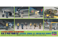 WWII Pilot Figure Set (Japanese, German, US / British)
