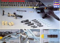 Pilot figures and equipment - WWII Luftwaffe set