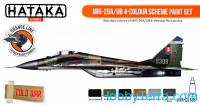 Set of paints. MiG-29A/UB 4-colour scheme, 6 pcs