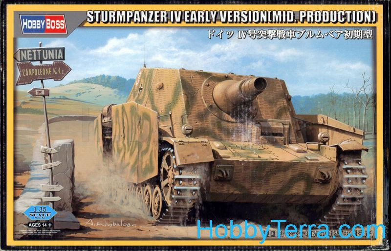 German SturmPanzer IV, early version (mid. production)