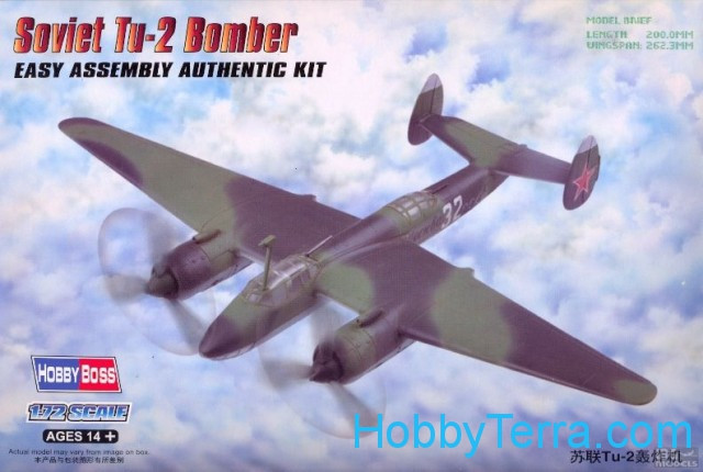 Hobby Boss  80298 Soviet Tu-2 bomber. Easy kit