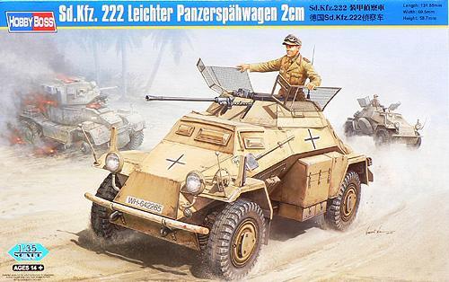 sd kfz 222 leichter panzerspahwagen 2cm 1 35 scale model hobby boss 82442. Black Bedroom Furniture Sets. Home Design Ideas