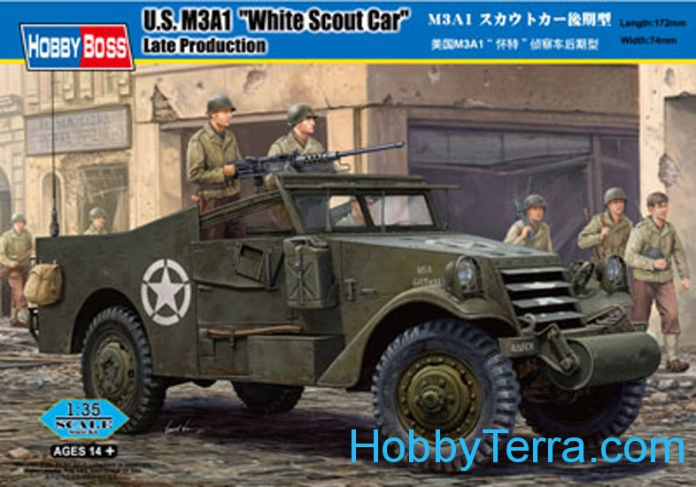 "Hobby Boss  82452 U.S. M3A1  ""White Scout Car""  Late Production"