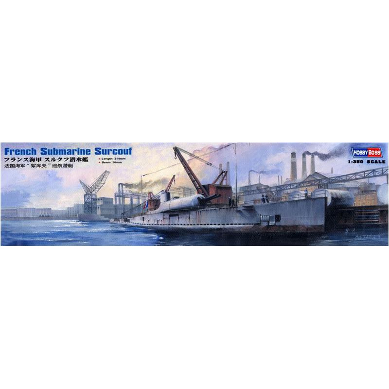 Hobby Boss  83522 French Surcouf Submarine Cruiser