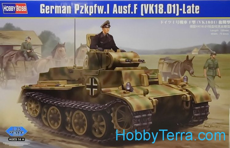 Hobby Boss  83805 German Pz.Kpfw.I Ausf.J (VK1801), late
