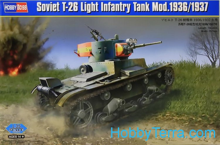 Soviet T-26 light infantry tank mod.1936/1937