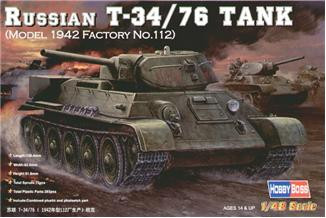 Hobby Boss  84806 Rissian T-34/76 Tank (model 1942 Factory No.112)