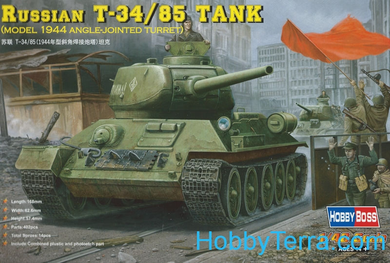 Hobby Boss  84809 Russian T-34/85 tank (model 1944 angle-jointed turret)