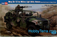 Meng Shi 1.5 ton Military Light Utility Vehicle - Convertible Version for Special Forces