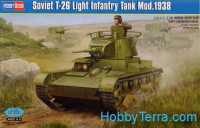 Soviet T-26 light infantry tank mod.1938
