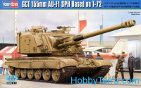 GCT 155mm AU-F1 self-propelled howitzer based on T-72 tank