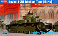 Soviet T-28 medium tank, early prod.