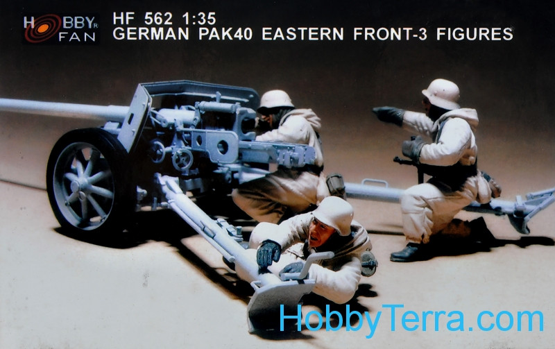 Hobbyfan  562 German Pak 40 crew, Eastern Front (resin)