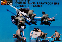 German Pak 40 Paratroopers gunner (resin)
