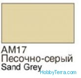 Sand grey. Matt acrylic paint 16 ml