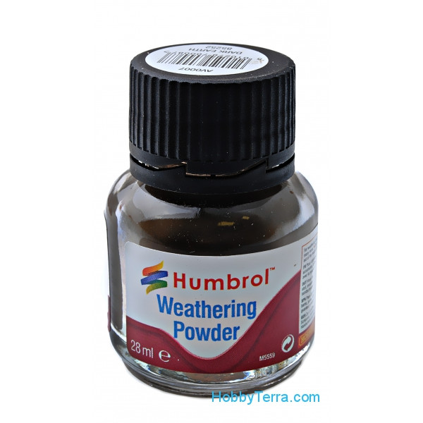"Weathering powder ""Humbrol"" dark earth, 28ml"