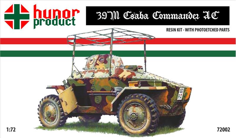 39M Csaba commander's armored car (resin kit + pe)