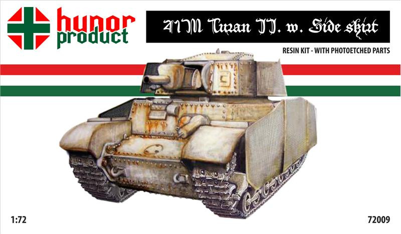 41M Turan II heavy tank with side skirts (resin kit + pe)