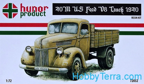 Hunor Product 72032 US Ford V8 40M truck WWII  Resin kit