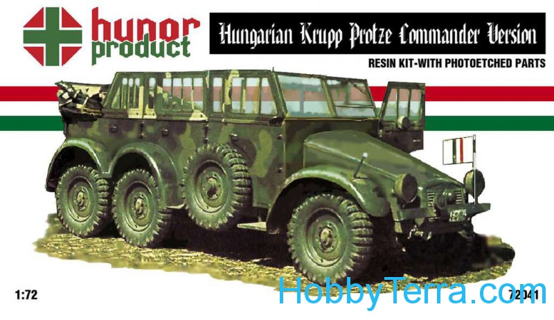 Hungarian Krupp Protze commander version (resin + PE set)