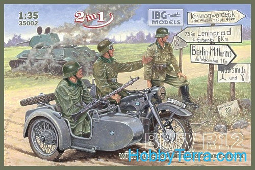 Motorcycle R12 with sidecar, military version