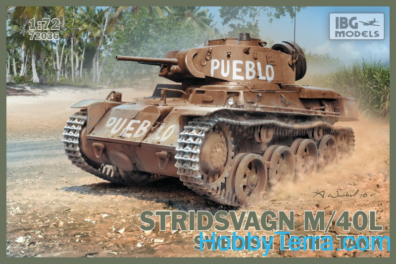 Stridsvagn M/40L Swedish light tank