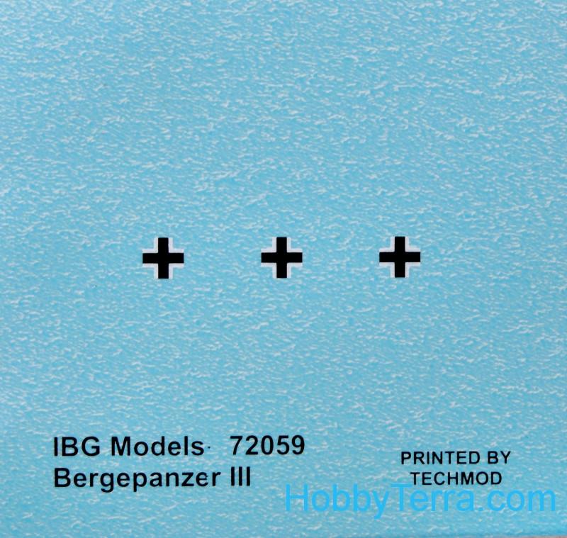 IBG 72059 Bergepanzer III German Armored Recovery Vehicle  scale 1//72