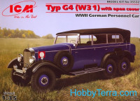 Typ G4 (W31) with open cover, WWII German passenger car