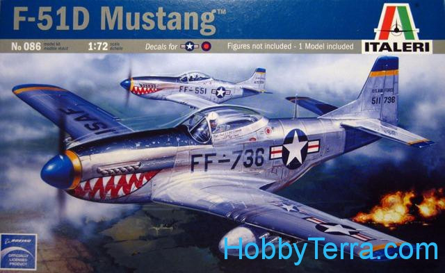 Italeri  0086 P-51D Mustang fighter