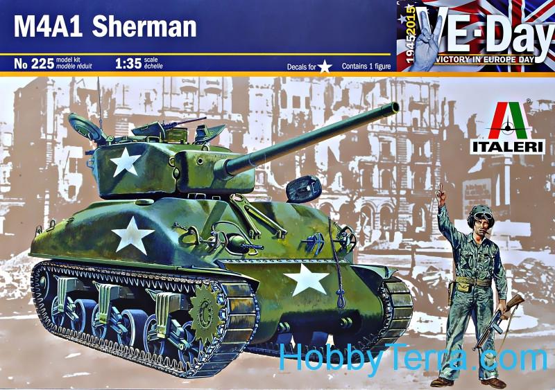 M4A1 Sherman tank in 1:35 scale Italeri 0225 HobbyTerra.com