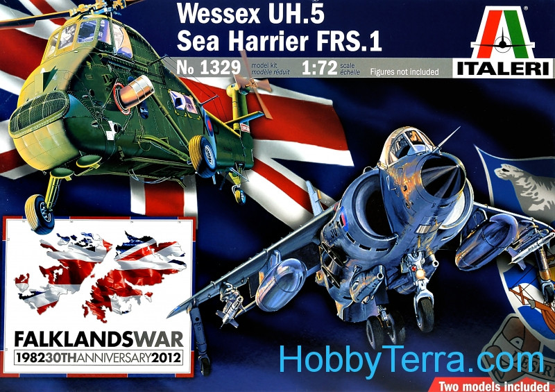 Wessex UH.5 helicopter & Sea Harrier FRS.1 fighter