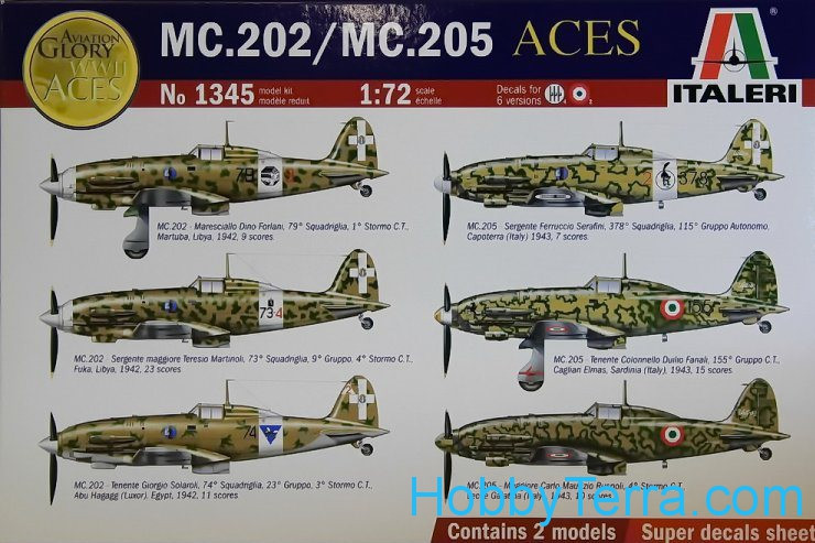 Italian Aces: MC.202 & MC.205 fighters