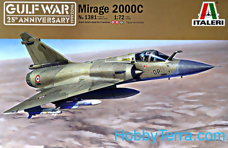 Italeri  1381 Mirage 2000C - Gulf war 25th ANN
