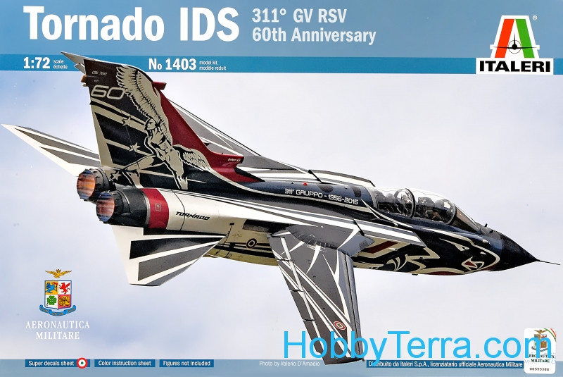 "Italeri  1403 Tornado IDS fighter ""311 GV RSV 60th Anniversary"""