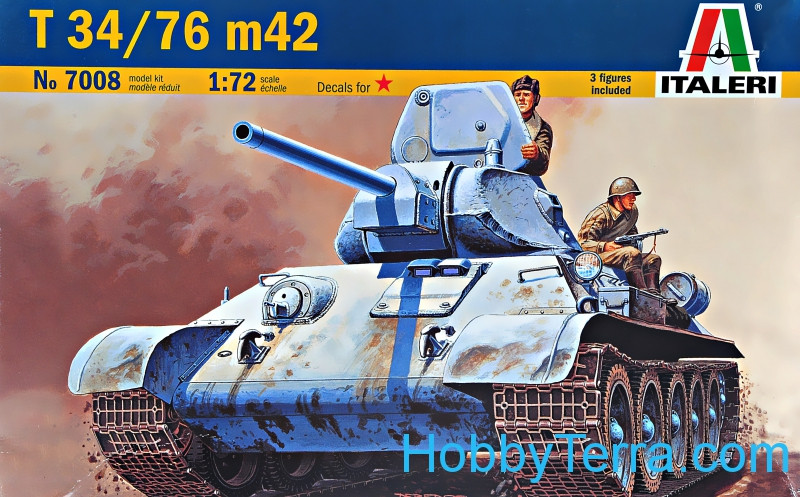 Italeri  7008 Tank T-34/76 model 1942 (Snap fit)