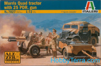Morris quad tractor with 25 pdr. gun