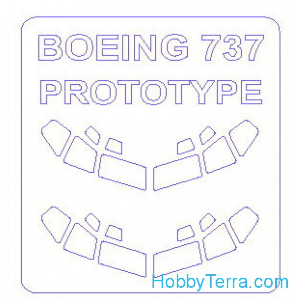 Mask 1/144 for Boeing 707, 727, 737  (Correct)