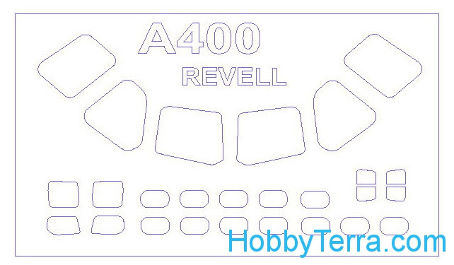 Mask 1/72 for Airbus A400M, for Revell kit