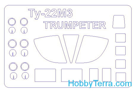 Mask 1/72 for Tupolev Tu-22M3, for Trumpeter kit