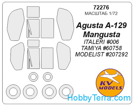"Mask 1/72 for Agusta A129 ""Mangusta"", for Italeri kit"