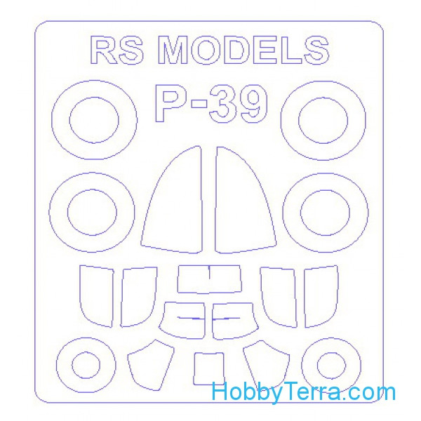 Mask 1/72 for P-39 and wheels masks, for RS Models kit