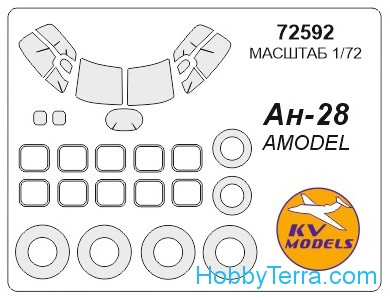 Mask 1/72 for Antonov An-28 and wheels masks, for Amodel kit