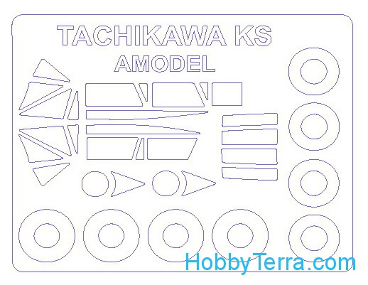Mask 1/72 for Tachikawa KS/KKY-2 and wheels masks, for Amodel kit