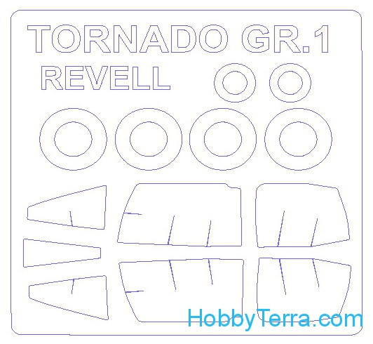 Mask 1/72 for Tornado GR.1 and wheels masks, for Revell kit