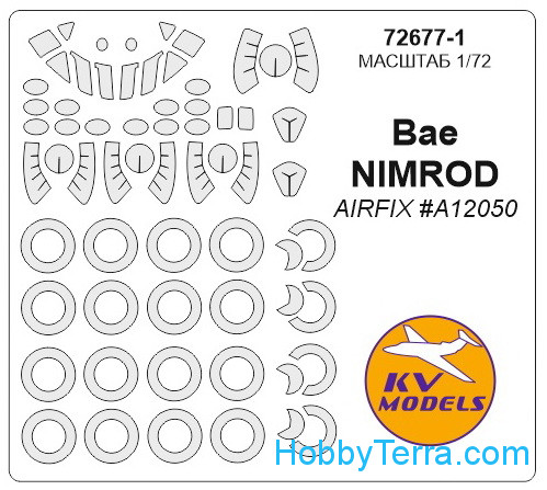 Mask 1/72 for BAe Nimrod and wheels masks, for Airfix kit