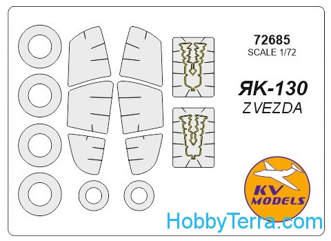 KV Models  72685 Mask 1/72 for Yak-130 + wheels, for Zvezda kit