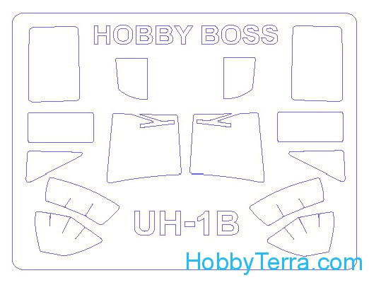 Mask 1/72 for UH-1B, for Hobby Boss kit