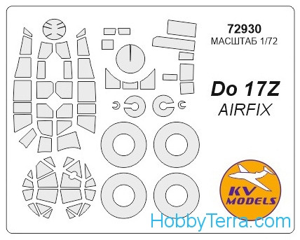 Mask 1/72 for Do-17Z + wheels masks, for Airfix kit