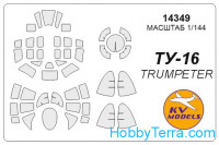 Mask 1/144 for Tu-16, for Trumpeter kit