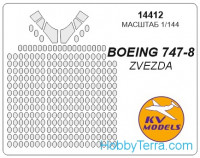 Mask 1/144 for Boeing 747-8, for Zvezda kit